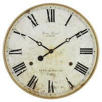 Aspire Home Accents 4783 Leniel Large Wall Clock, Golden Brown