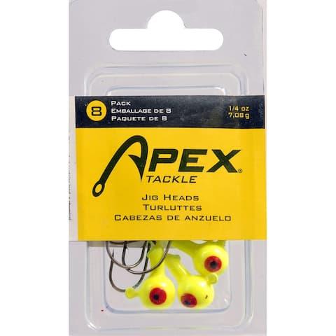 Apex ap14-8-3 jig heads 1/4 oz 8pk chart