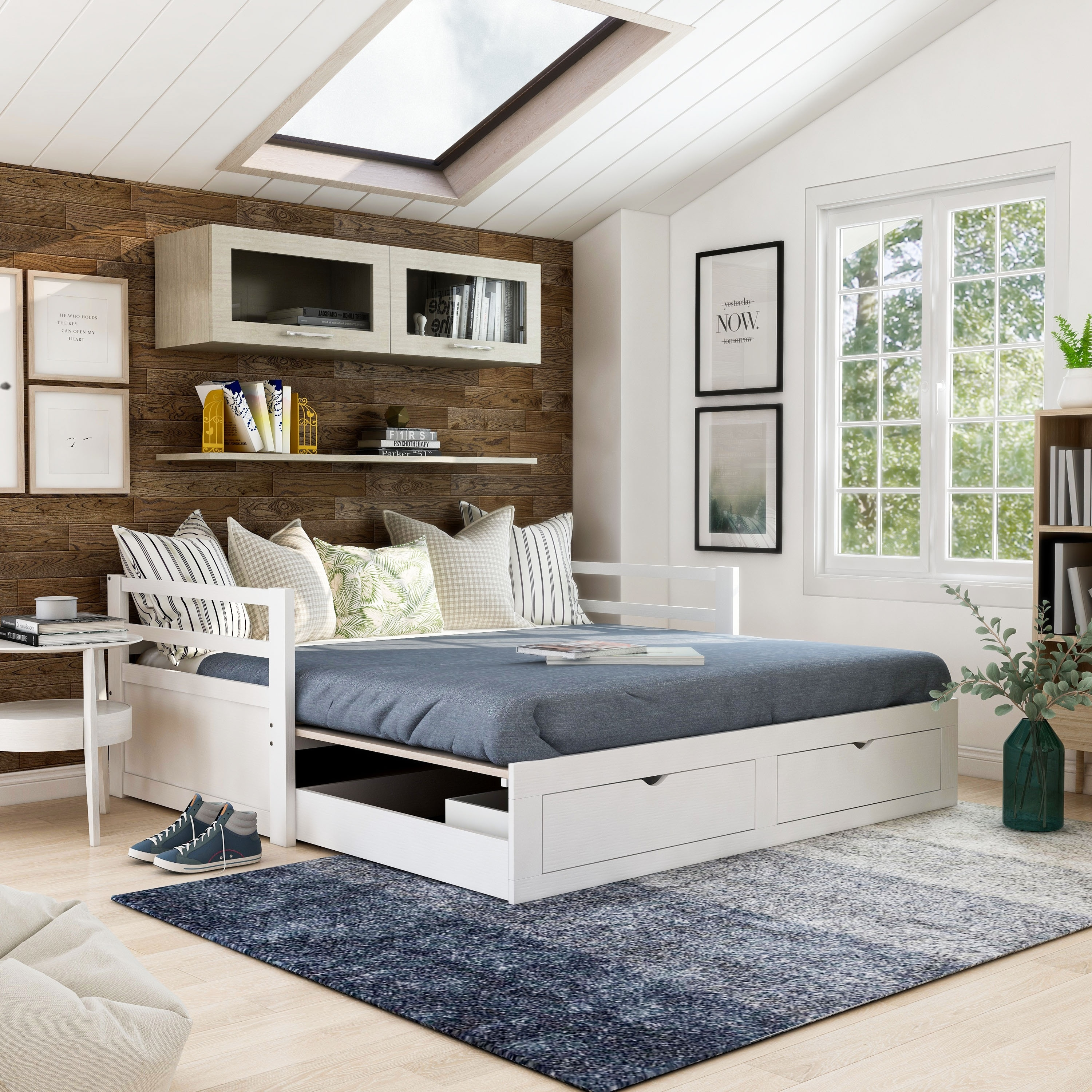 Furniture Of America Soma Twin King Expandable Daybed With Trundle On Sale Overstock 31263446