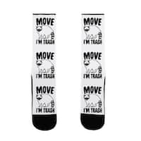 LookHUMAN Move I'm Trash Parody US Size 7-13 Socks