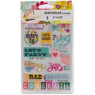 "Insta-Scrap Stickers 4""X6"" Sheets 3/Pkg-Birthday"