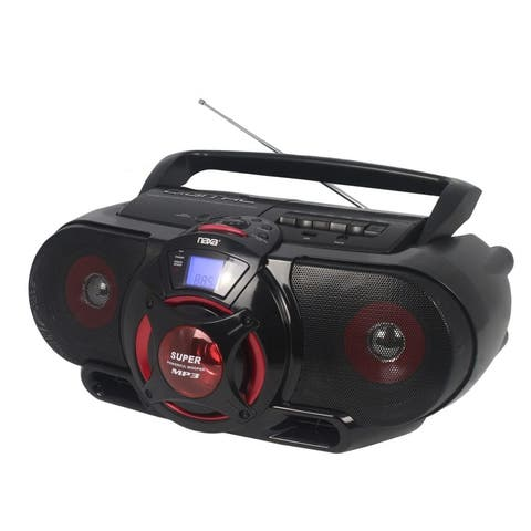 Portable Bluetooth® MP3/CD AM/FM Stereo Radio Cassette Player/Recorder (NPB-273)