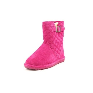 Bearpaw Leigh Anne Youth Round Toe Suede Pink Winter Boot
