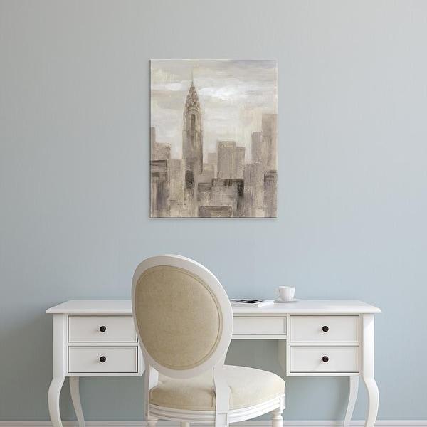 Easy Art Prints Silvia Vassileva's 'City Blocks I Greige' Premium Canvas Art