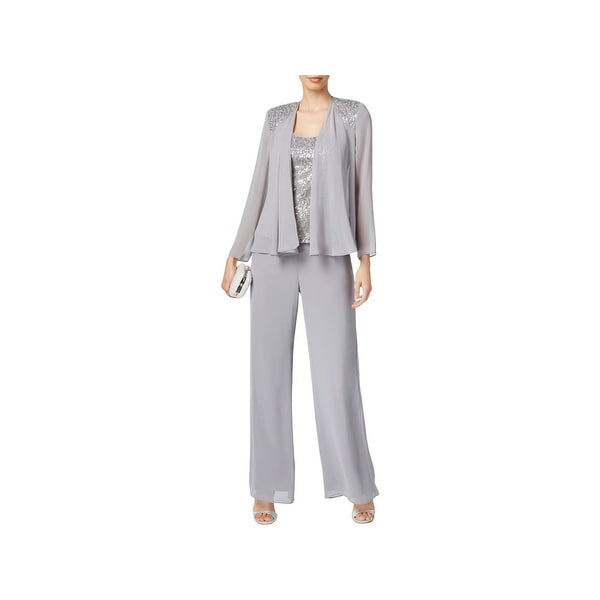 Shop Sl Fashions Womens Pant Suit Sequined Lace 3 Pc Free Shipping