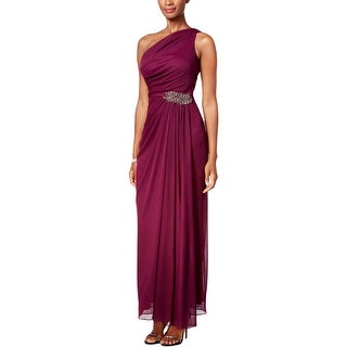 Alex Evenings Womens Evening Dress Beaded Gathered