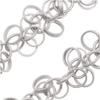 Antiqued Silver Plated 5mm Circles Charm Chain - Bulk By The Inch