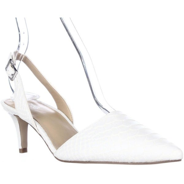 3f58c80a71 Shop MICHAEL Michael Kors Claudia Sling Back Kitten Heels, Optic ...
