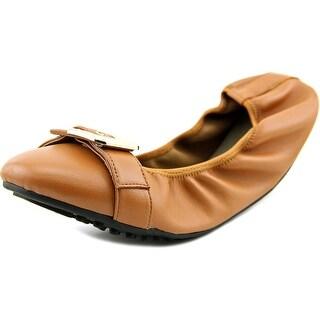 Bella Vita Twirl Women W Round Toe Leather Brown Flats
