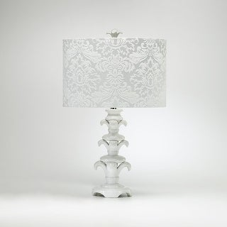 """Cyan Design 2812 26.25"""" Ceramic Table Lamp from the Lighting Collection - white gloss"""