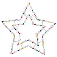 Northlight  18 in. Lighted Star Christmas Window Silhouette Decoration