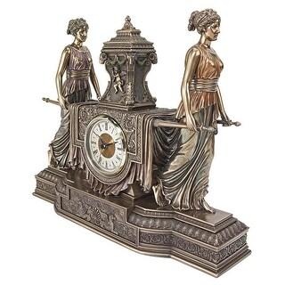 Design Toscano Versailles Maidens Sculptural Mantel Clock