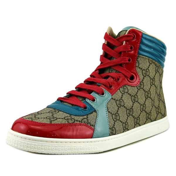 8d7d382426c Gucci Tessuto GG Supreme High-Top Women Canvas Multi Color Fashion Sneakers