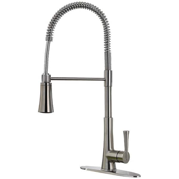 Shop Pfister Lg529 Mc Zuri Pullout Spray High Arc Kitchen Faucet