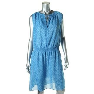 Lauren Ralph Lauren Womens Chiffon Printed Casual Dress