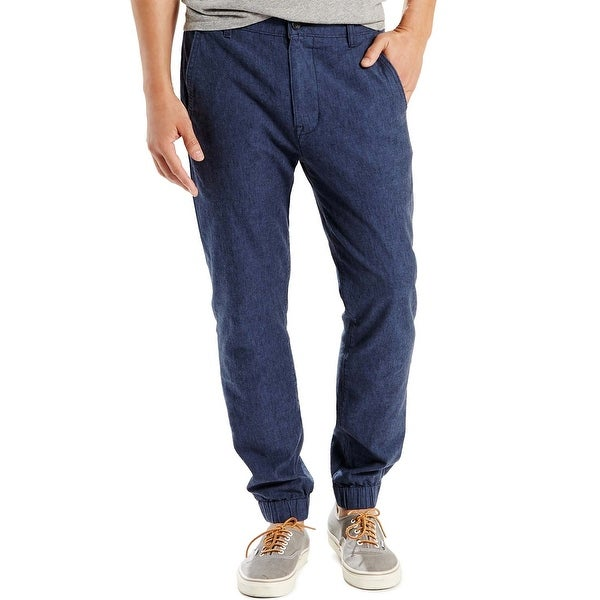 b62efaca Shop Levi's Regular Fit Stretch Navy Cotton and Linen Chinos Jogger Pants  34 x 32 - Free Shipping On Orders Over $45 - Overstock - 19535781