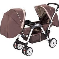 AmorosO No.45156 Brown Luxurie Double Stroller, Face to Face