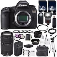 Canon EOS 5DS DSLR Camera (International Model) 0581C002 + Canon EF 75-300 III + 64GB Card + 32GB Card Bundle