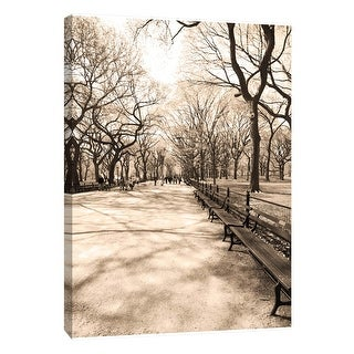 """PTM Images 9-106005  PTM Canvas Collection 10"""" x 8"""" - """"Central Park 1"""" Giclee Roads & Paths Art Print on Canvas"""