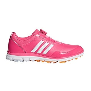 Adidas Women's Adistar Lite BOA Real Pink/White/Gold Golf Shoes F33653