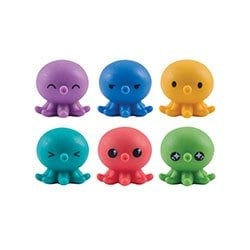 Octo Squishies Pencil Toppers - Set of 6 Toys