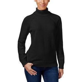 Karen Scott Womens Sweater Ribbed Knit Trim Long Sleeves