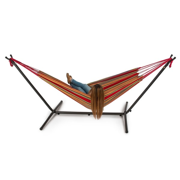 Shop Belleze Double Hammock Space Saving Steel Stand with ...