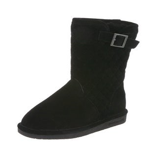 Bearpaw Boots Womens Sheepskin Quilted Leigh Anne Buckle 1667W