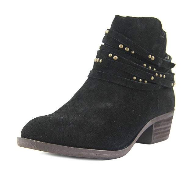 Kensie Gilberto Women Round Toe Suede Black Ankle Boot