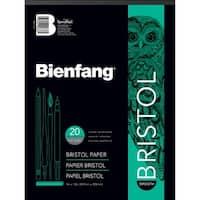 """20 Sheets - Bienfang Bristol Board Smooth Paper Pad 9""""X12"""""""