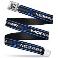 Mopar Logo Full Color Black White Mopar Text Logo Stripe Grill Black Grays Seatbelt Belt