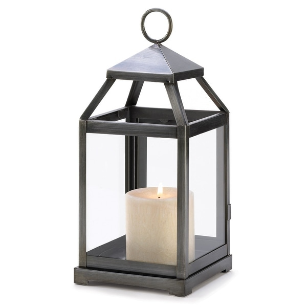 Rustic Silver Candle Lantern. Opens flyout.