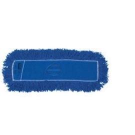 """Rubbermaid J35200BL00 Synthetic Dust Mop Heads, 18"""" x 5"""", Blue"""