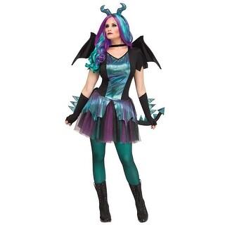 Fun World Dark Dragon Adult Costume - Green/Purple
