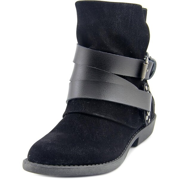 Blowfish Alias Women Round Toe Synthetic Black Ankle Boot