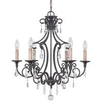 Craftmade 38926 Bentley 6 Light Candle Style Chandelier - 22 Inches Wide - MATTE BLACK