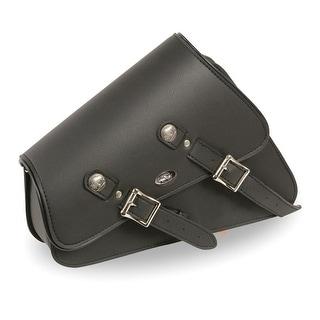 Left Side Heavily Slanted PVC Swing Arm Bag W Buffalo Snaps 11 5X5X12X3 One Size