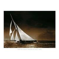 ''Sailing Yacht Mohawk at Sea, 1895'' by Photography Collection Transportation Art Print (9.5 x 11.75 in.)