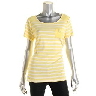 Karen Scott Womens Cotton Striped Casual Top - XL