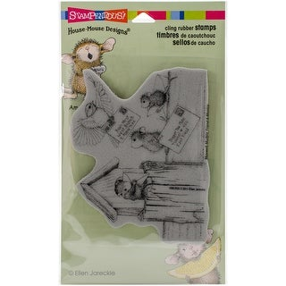 """Stampendous House Mouse Cling Stamp 4""""X6""""-Air Mail"""