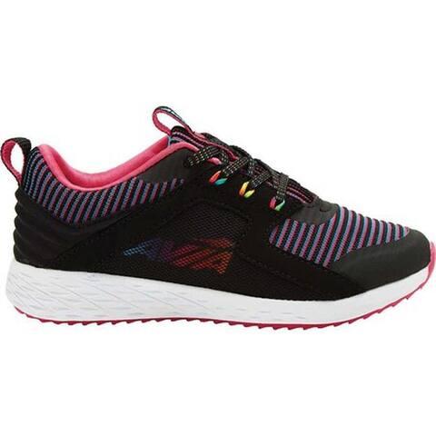 Avia Girls' Avi-Ryder Sneaker Black/Fuchsia Purple/Rainbow