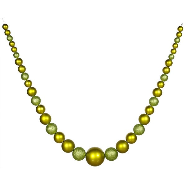 "134"" Lime Ball Garland Shiny-Matte-Glitt"