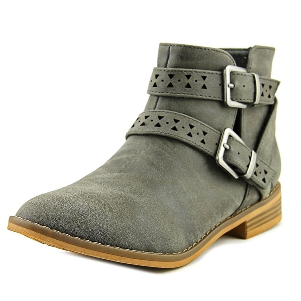 Rocket Dog Mack Women Round Toe Synthetic Gray Ankle Boot