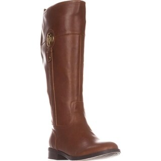Tommy Hilfiger Ilia2 Wide Calf Riding Boots, Medium Brown