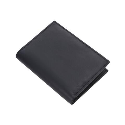 Hong Kong Closeout Genuine Leather Bi Fold Men RFID Protected Wallet