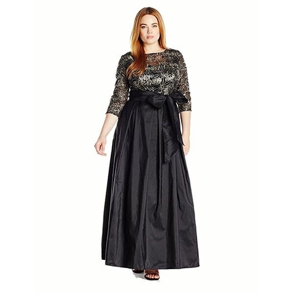 Shop Alex Evenings Womens Plus Size Line Ballgown Evening Dress