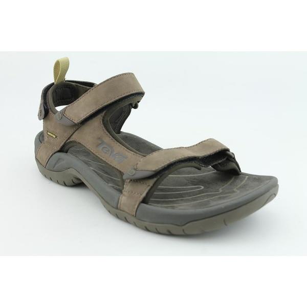 Teva Tanza Men Open-Toe Leather Brown Sport Sandal