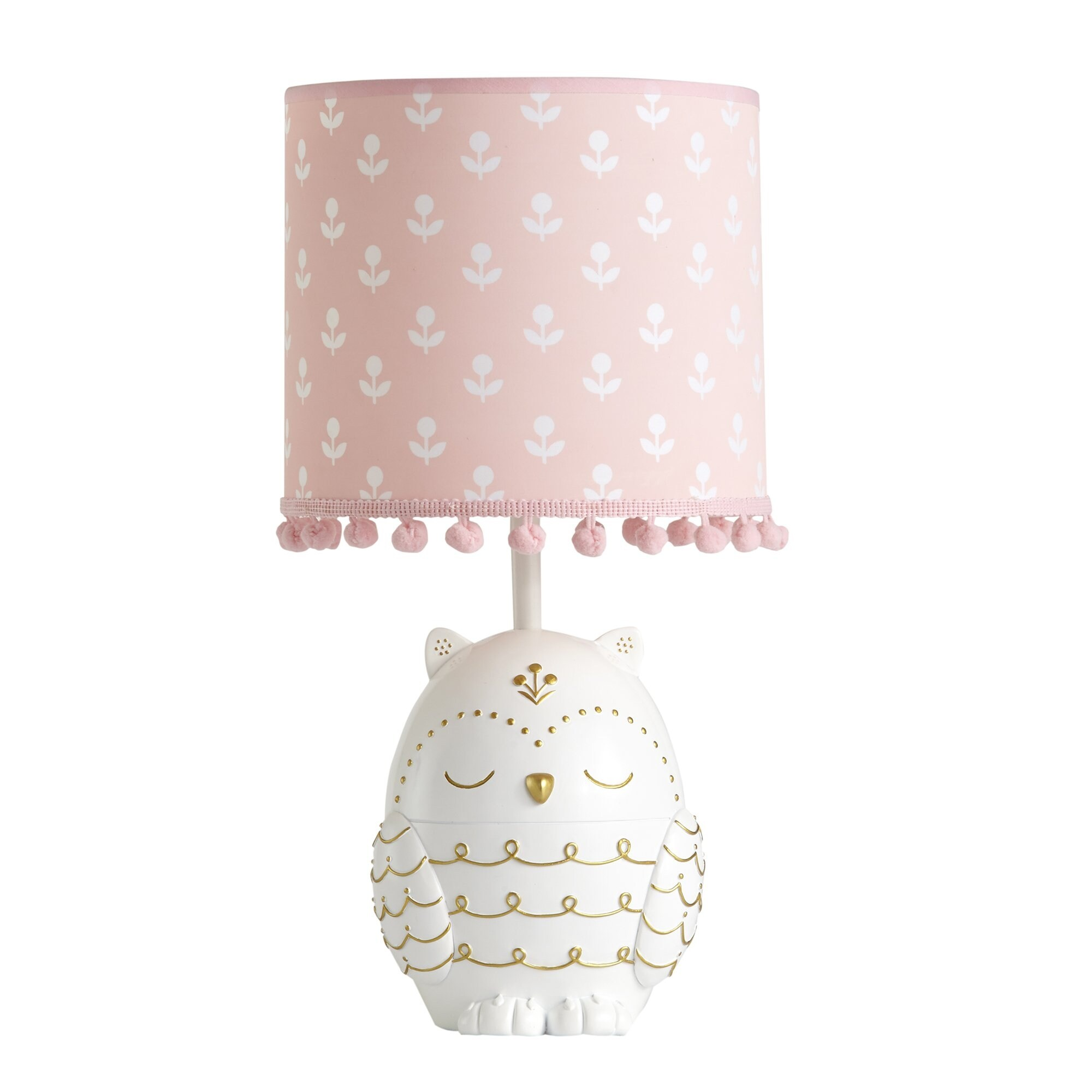 Shop Lambs Ivy Pink Woodland Couture Lamp With Shade Bulb