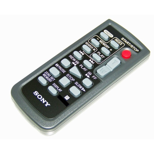 OEM Sony Remote Control Originally Shipped With: HDRHC9, HDR-HC9, DCRHC85, DCR-HC85, HDRFX7, HDR-FX7