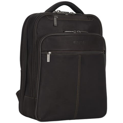 Kenneth Cole Reaction 'Manhattan' Colombian Leather Slim 16in Laptop TSA Checkpoint-Friendly RFID Business Backpack